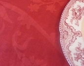 RESERVED for JUELL Vintage Red Tablecloth Turkish Airlines