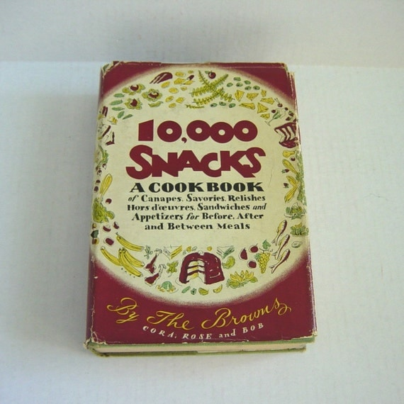 Items similar to 10000 snacks a cookbook of canapes etc by for Canape cookbook