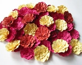 As seen in Bridal Guide Magazine Wedding Paper Flowers 25-2 1/2 inch in your choice of colors-Open Flowers-Handmade