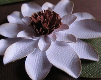 Paper Magnolias Flowers With Leaves Handmade Wedding Placecards 100-2 1/2 inches-Open Flowers