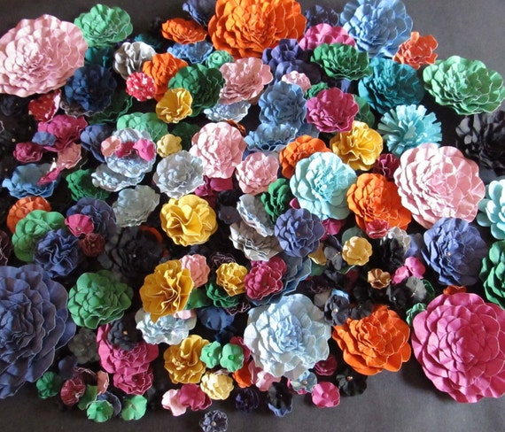 handmade paper for sale sale wedding handmade paper flowers lot of 225 flowers ready 6258