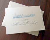 Custom Chicago Skyline - Thank You Card - White