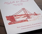 Golden Gate Bridge - Wedding Save the Date