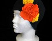 Rose's Skull Cap - Yellow and Orange