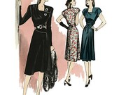 Butterick 5281 Two Retro 1946 Dresses for Women in Sizes 14-22