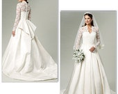 Butterick 5731 Wedding Gown Inspired by Royal Wedding in Sizes 14-20