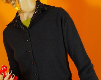1940s Plymouth Sequined and Beaded Sweater