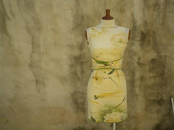 Spring Dress Beige Floral Print