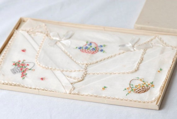 SALE ITEM Vintage Handkerchief In Original Box