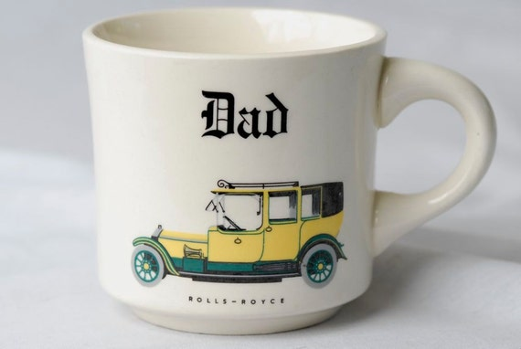 SALE ITEM Vintage Rolls Royce Dad Coffee Mug Gift