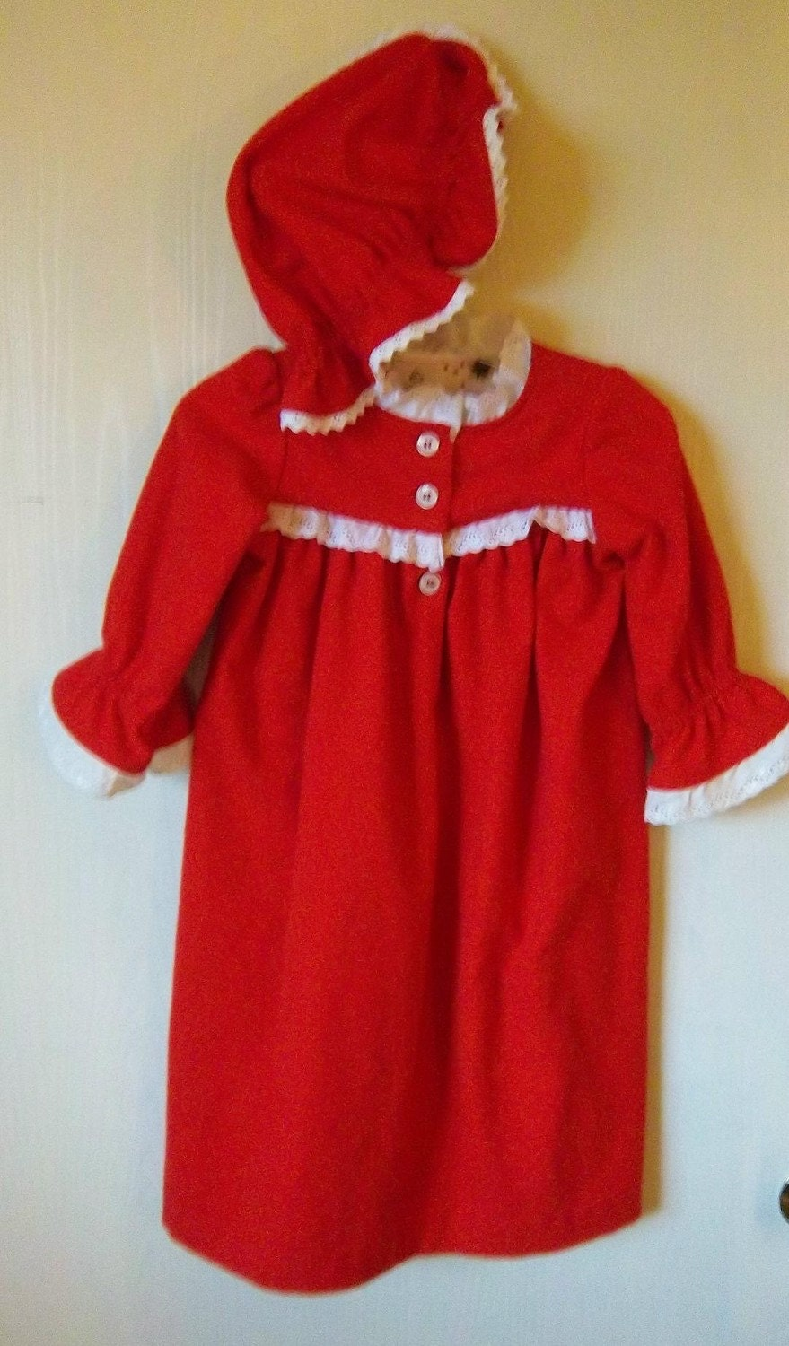 Mrs claus nightgown with cap