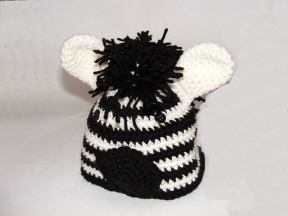 Zebra Beanie Hat Amigurumi Crochet Custom Order Gift