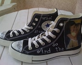 Twilight Hand painted Authentic Converse Shoes - Team Edward