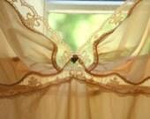 Gwyneth .. A Vintage Nude Satin Slip\/Nightgown (M\/L)