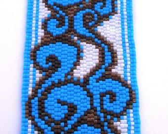 Earth and Sky Peyote Stitch Cuff Bracelet EtsyFreeShipping