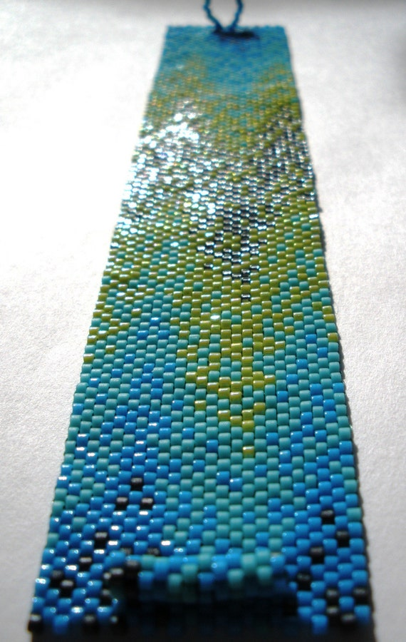 Tropical Tranquility Peyote Cuff Bracelet