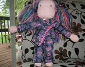 Pink Skulls - Sweat suit for 15, 16 and 17 inch dolls