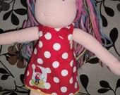 Gnome Romp - Reversable Jumper Dress for 15 inch doll