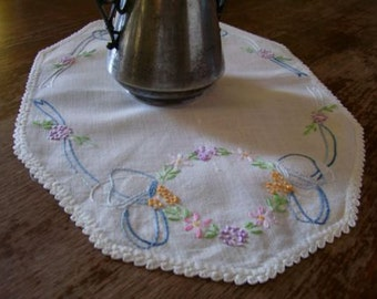 vintage doily table topper