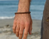Man's Copper Chainmaille Bracelet
