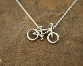 29er Bicycle Necklace  (Silver)