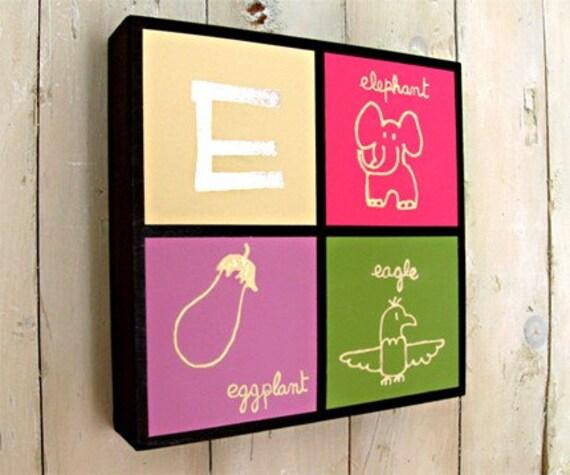 Original Gilded Letter E  Monogram for girl's room