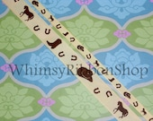 20 yards 3/8 Beige brown tan Western Horse Shoe GROSGRAIN Ribbon Hair Bows Scrap booking Crafts Favors Party Invitations animal chamois