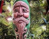 Wisdom of The Woods - Hand Carved Wood Spirit Christmas Ornament