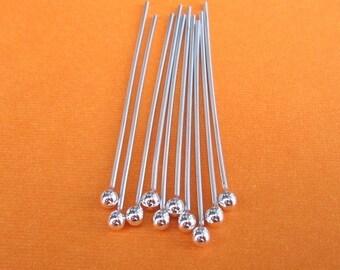 Ten handmade 20 gauge argentium silver 1.5 inch headpins
