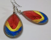 Parrot Hand Woven Thread Earrings