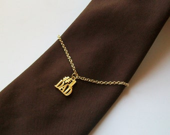 DAD Gold Chain Wire Wrapped Tie Chain - Holder