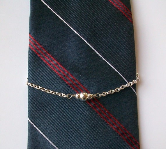 Silver Plated Bead Wire Wrapped Tie Chain