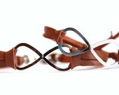 Infinity -- His and Hers - Brown Leather