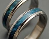 Wooden Wedding Rings, titanium wedding ring, matching wedding set, mens ring, womens ring, unique wedding ring, unique  - SMOOTH SAILING