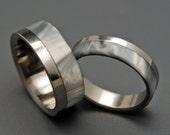 wedding rings, titanium rings, wood rings, mens rings, Titanium Wedding Bands, Eco-Friendly Wedding Rings, Wedding Rings - SMOKE AND MIRRORS
