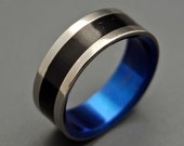 wedding rings, titanium rings, wood rings, mens rings, womens ring, Titanium Wedding Bands, Eco-Friendly Rings - FITZGERALD