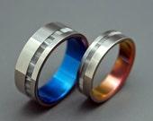 Wedding ring, men's ring, women's ring, titanium ring, titanium wedding ring, black ring, something blue – WHEN YOU ENTERED the room ii