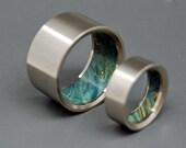 wedding rings, titanium rings, wood rings, mens rings, Titanium Wedding Bands, Eco-Friendly Rings, Wedding Rings - HUMBLE MAJESTY