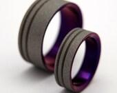 wedding rings, titanium rings, wood rings, mens rings, Titanium Wedding Bands, Eco-Friendly Rings, Wedding Rings - TO THE FUTURE