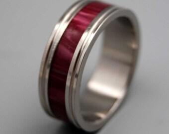 Titanium ring, wedding ring, titanium wedding ring, something blue, men's ring, women's ring – MERLOT
