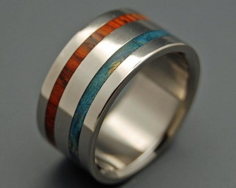 wedding ring, titanium rings, wood rings, titanium wedding ring, men's ring, women's ring - TWO KINGS UNITE