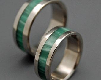 wedding rings, titanium rings, wood rings, men's ring, women's ring, unique wedding ring, engagement rings, commitment ring - SEA MOSS