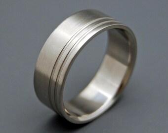 Titanium Rings, wedding rings, titanium jewelry, men's ring, DUET
