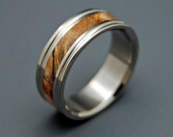 wedding rings, titanium rings, wood rings, men's ring, women's ring, unique wedding ring, engagement rings, commitment ring - BENNINGTON