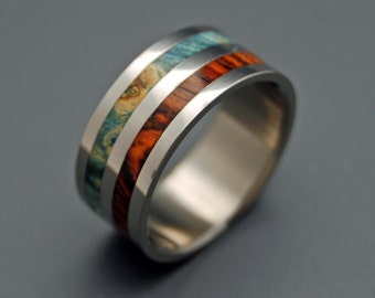 wedding rings, titanium rings, wood rings, men's ring, women's ring, unique ring, engagement, commitment - TWO KINGS UNITE