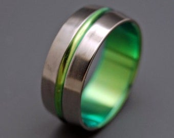 Titanium wedding ring, wedding ring, titaniun rings, mens ring, womens rings, eco-friendly - INSPIRED BY GREEN