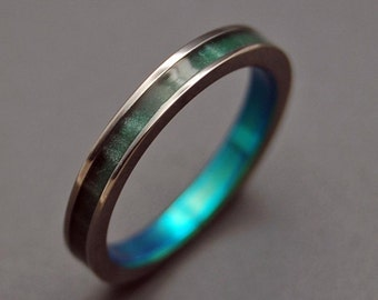 wedding rings, titanium rings, wood rings, men's ring, women's ring, unique ring, engagement, commitment - when LIGHT is gone, LOVE REMAINS