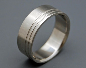 Titanium Wedding Ring, men's ring, woman's ring, wedding band, commitment ring, satin finish, matte - DUET
