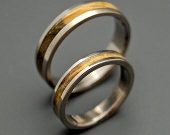 wedding rings, titanium rings, wood rings, men's ring, women's ring, unique wedding ring, engagement rings, commitment ring - RUNAWAY