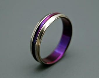 wedding ring, Titanium Wedding Ring, Unique Wedding Rings, purple ring, Mens Rings, Womens Rings, Eco-Friendly Rings - PASSION FOR PURPLE